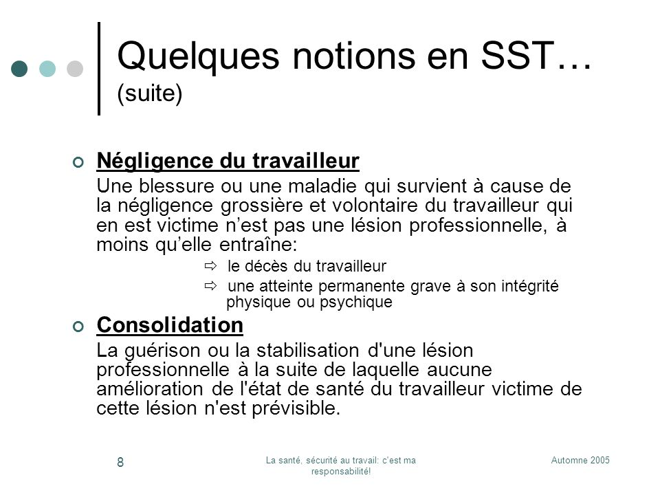 Quelques notions en SST… (suite)