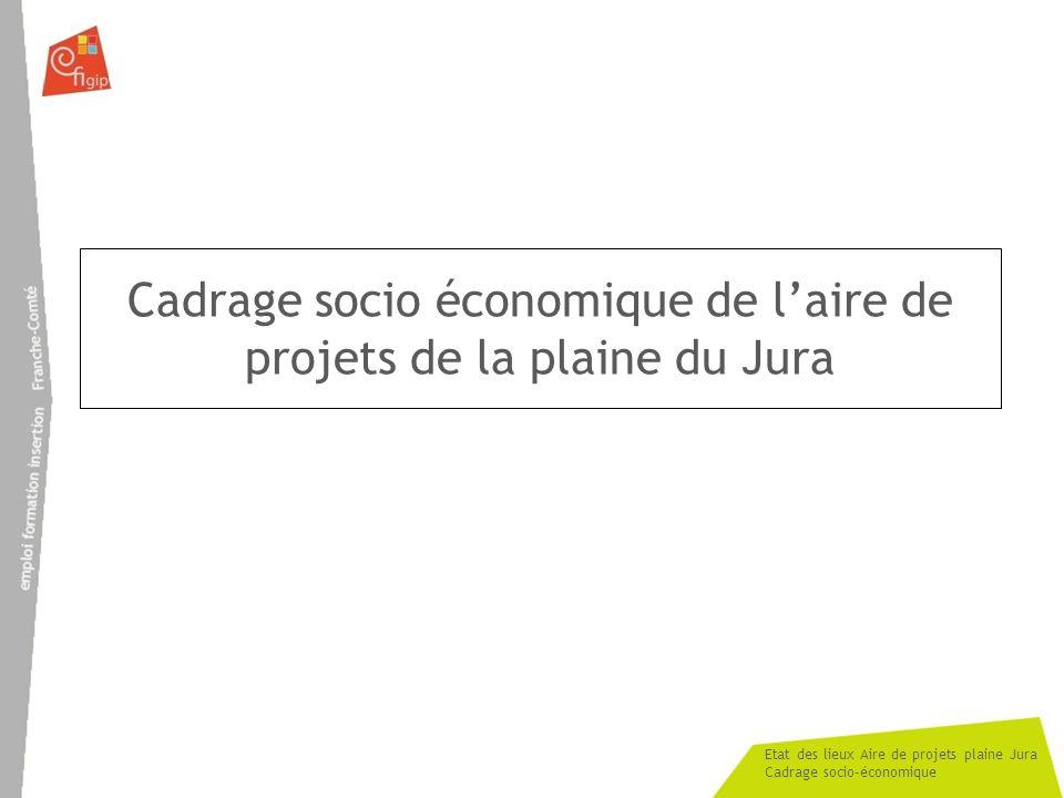 Cadrage socio économique de l'aire de projets de la plaine du Jura