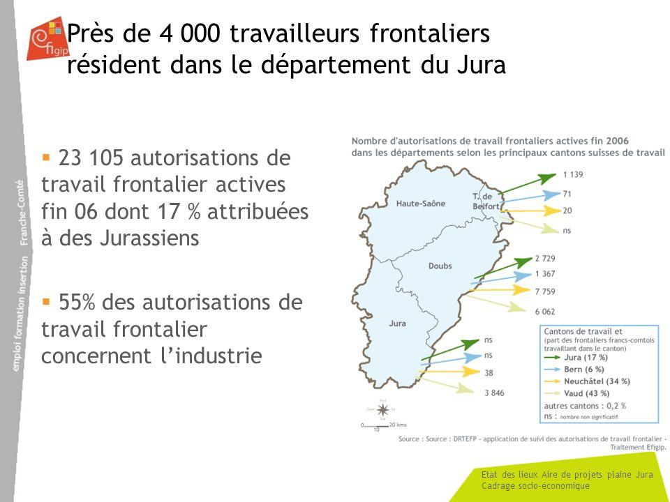 Près de 4 000 travailleurs frontaliers