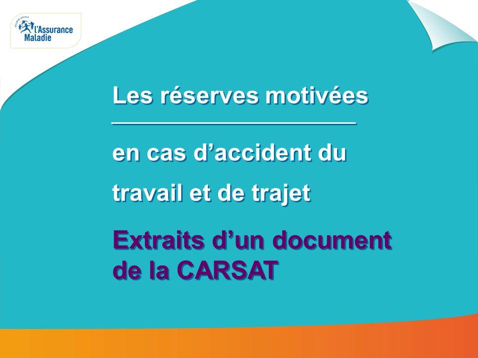 Extraits d'un document de la CARSAT