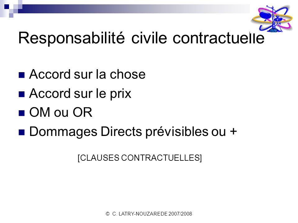 Responsabilité civile contractuelle
