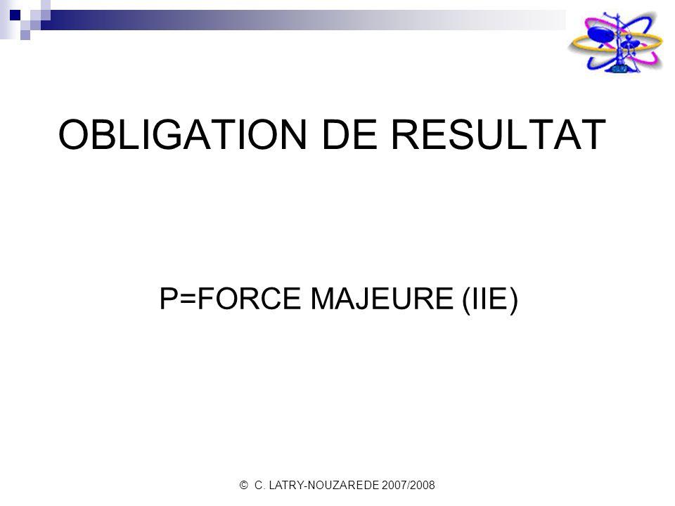 OBLIGATION DE RESULTAT