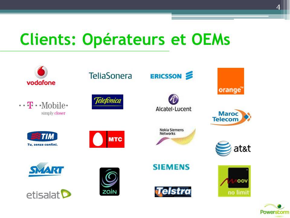 Clients: Opérateurs et OEMs