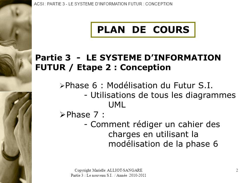 ACSI : PARTIE 3 - LE SYSTEME D'INFORMATION FUTUR : CONCEPTION