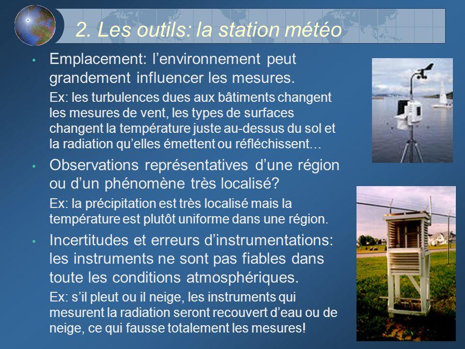 2. Les outils: la station météo