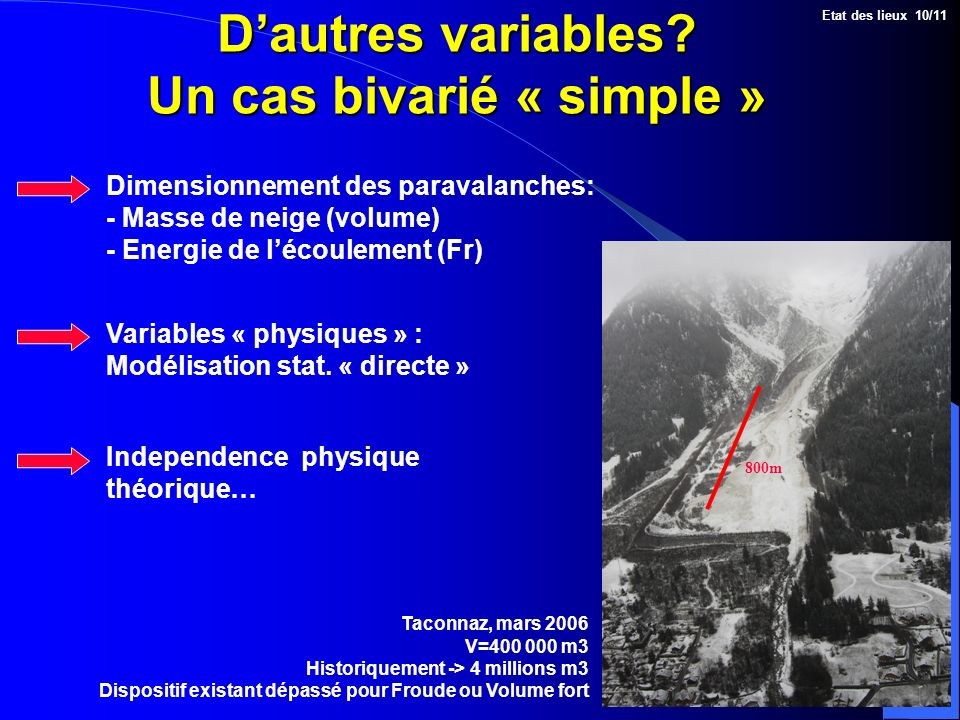 D'autres variables Un cas bivarié « simple »
