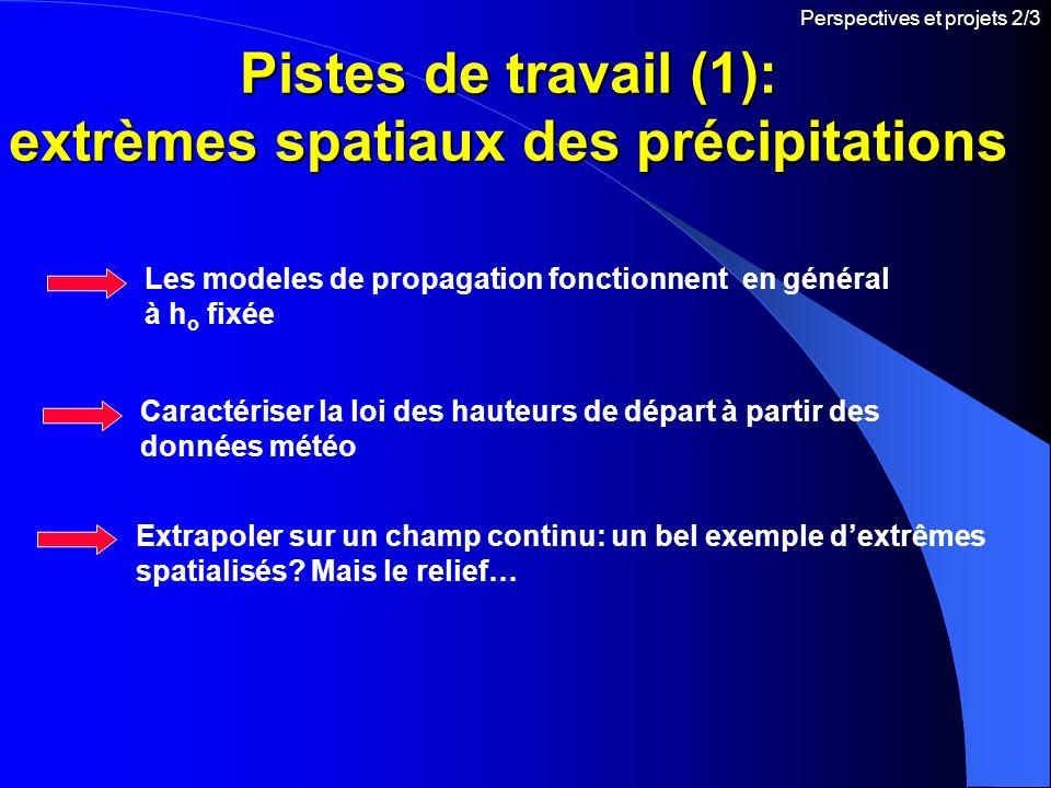 Pistes de travail (1): extrèmes spatiaux des précipitations