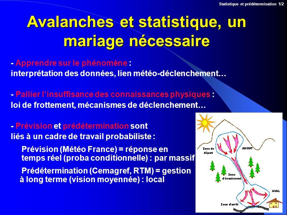 Avalanches et statistique, un mariage nécessaire