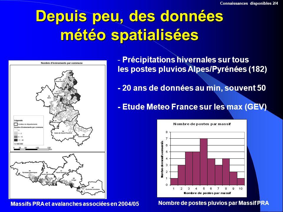 Depuis peu, des données météo spatialisées