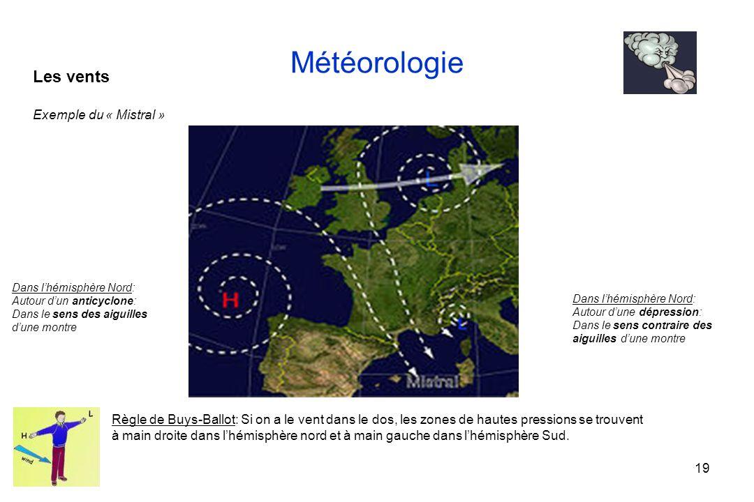 Météorologie Les vents Exemple du « Mistral »