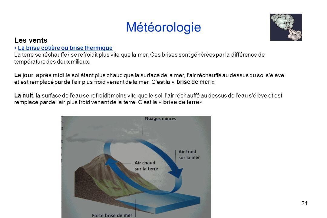 Météorologie Les vents La brise côtière ou brise thermique