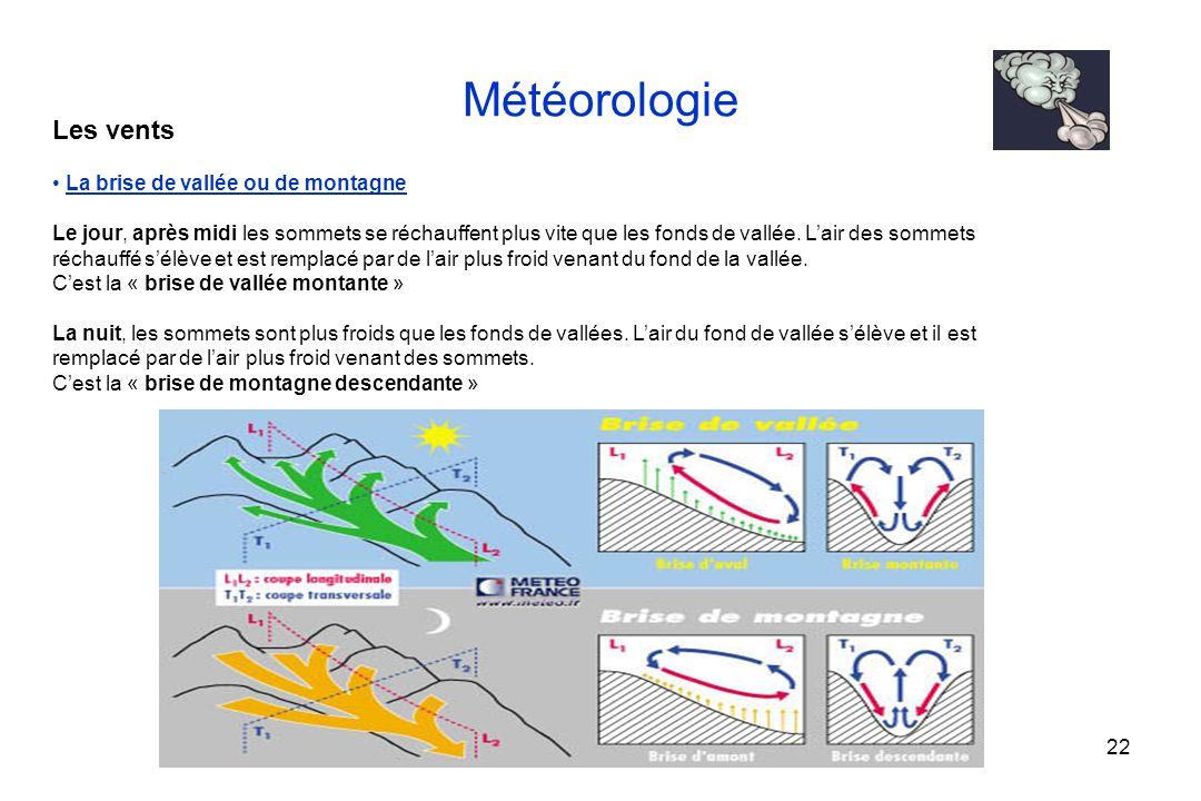 Météorologie Les vents La brise de vallée ou de montagne