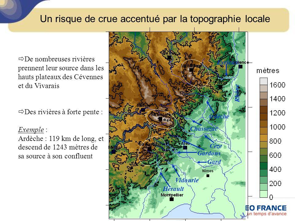 Un risque de crue accentué par la topographie locale