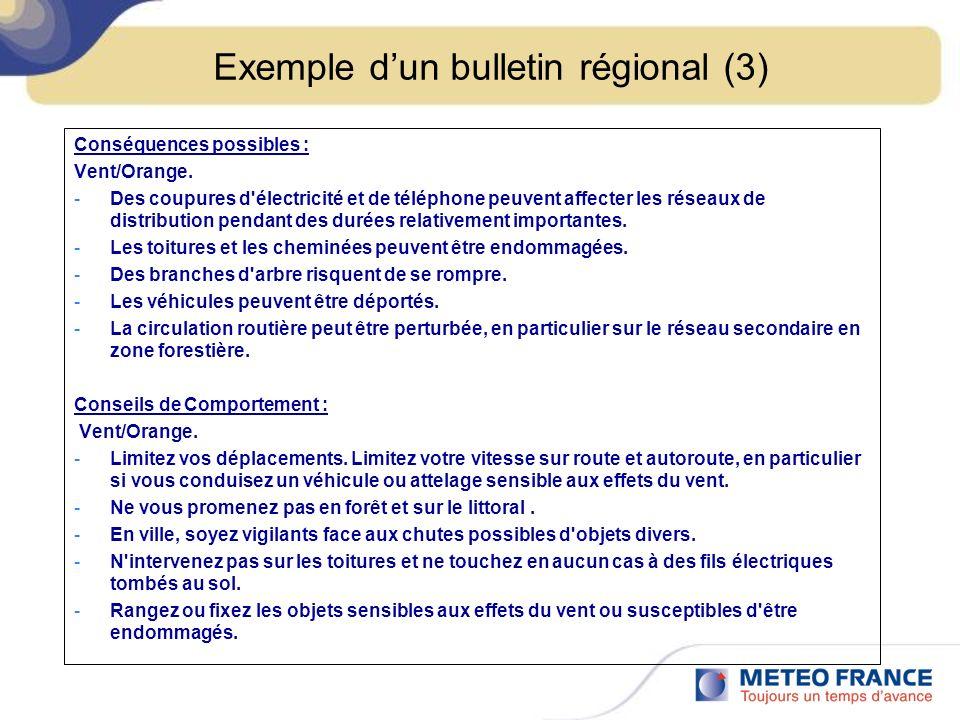 Exemple d'un bulletin régional (3)