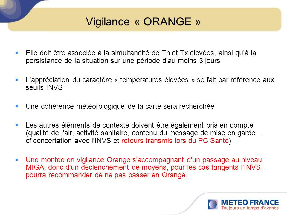 Vigilance « ORANGE »