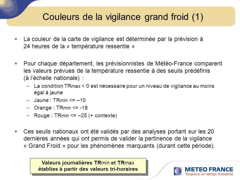 Couleurs de la vigilance grand froid (1)