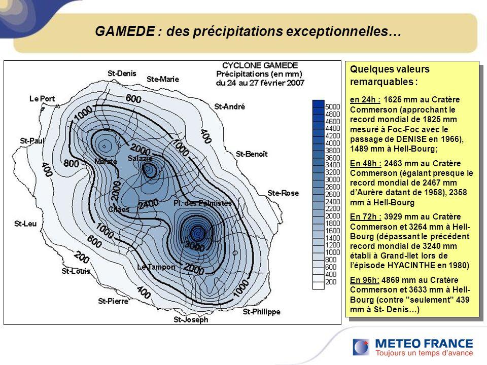 GAMEDE : des précipitations exceptionnelles…