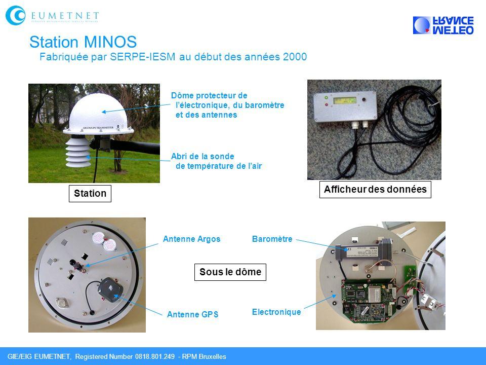 Station MINOS Fabriquée par SERPE-IESM au début des années 2000