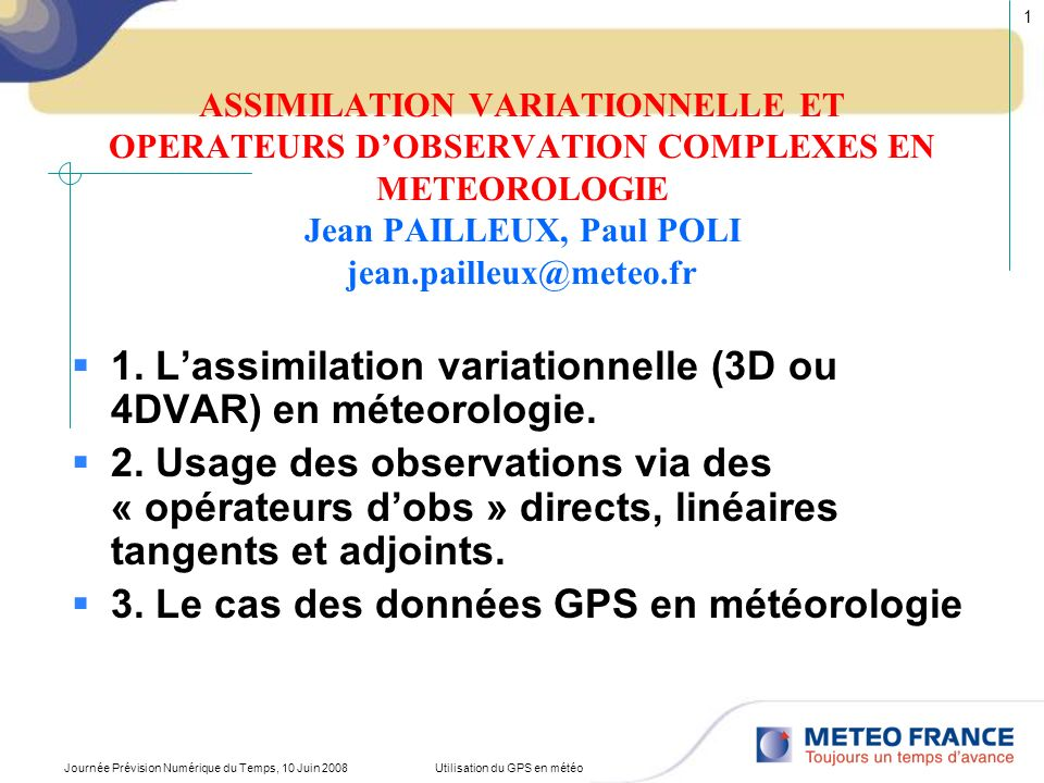 Utilisation du GPS en météo