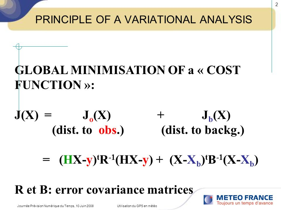 PRINCIPLE OF A VARIATIONAL ANALYSIS