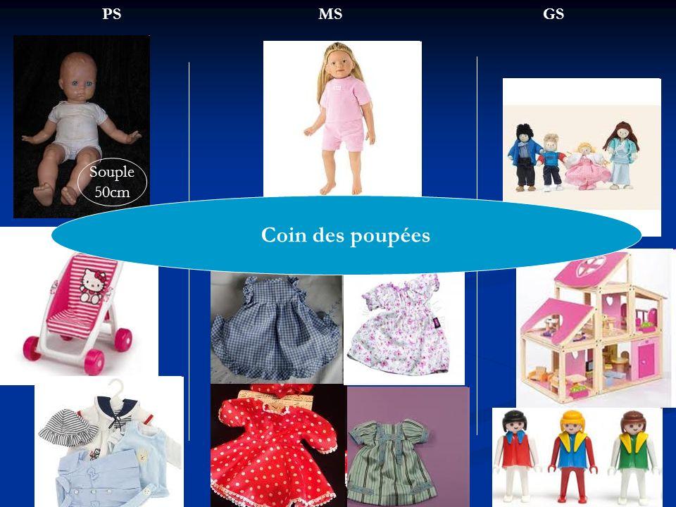 PS MS GS Souple 50cm Coin des poupées