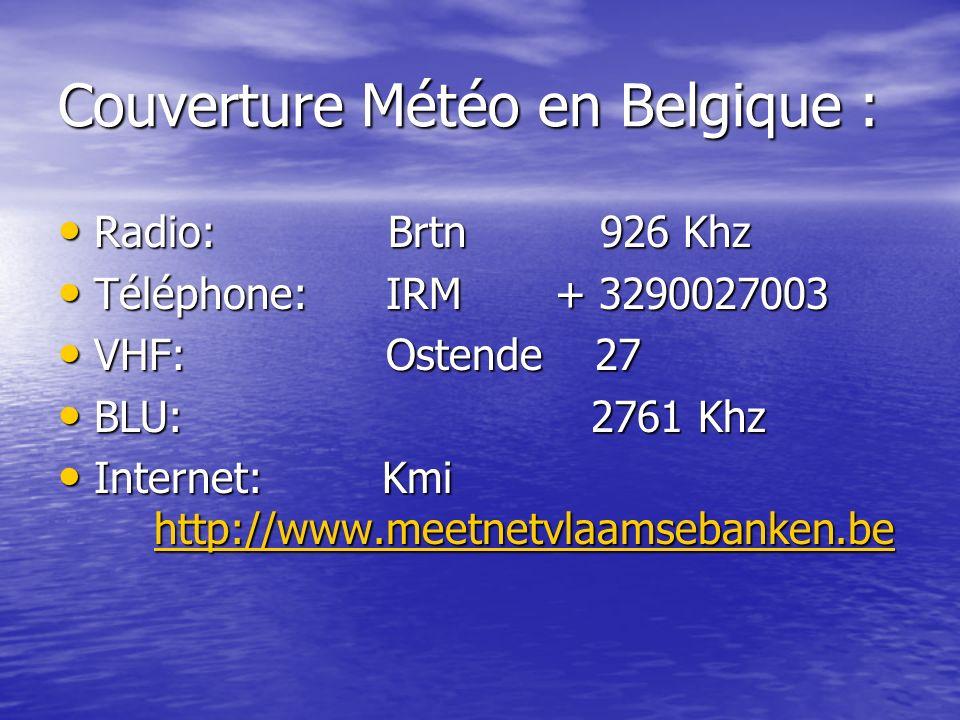 Couverture Météo en Belgique :