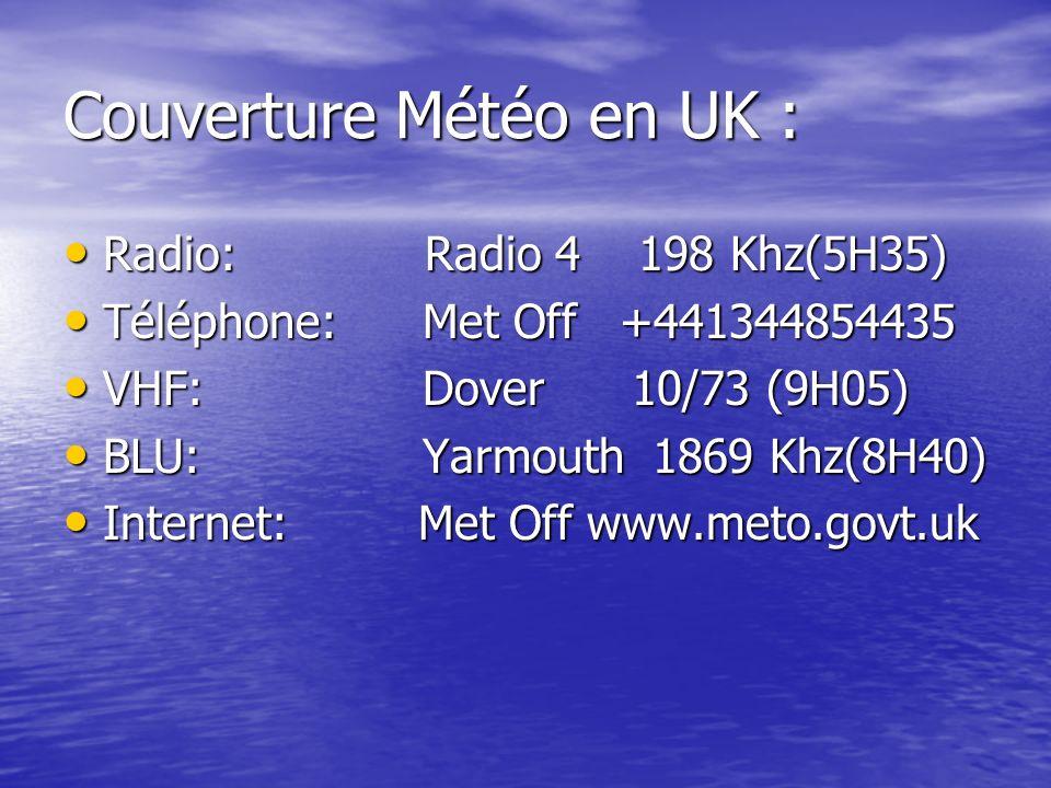 Couverture Météo en UK :