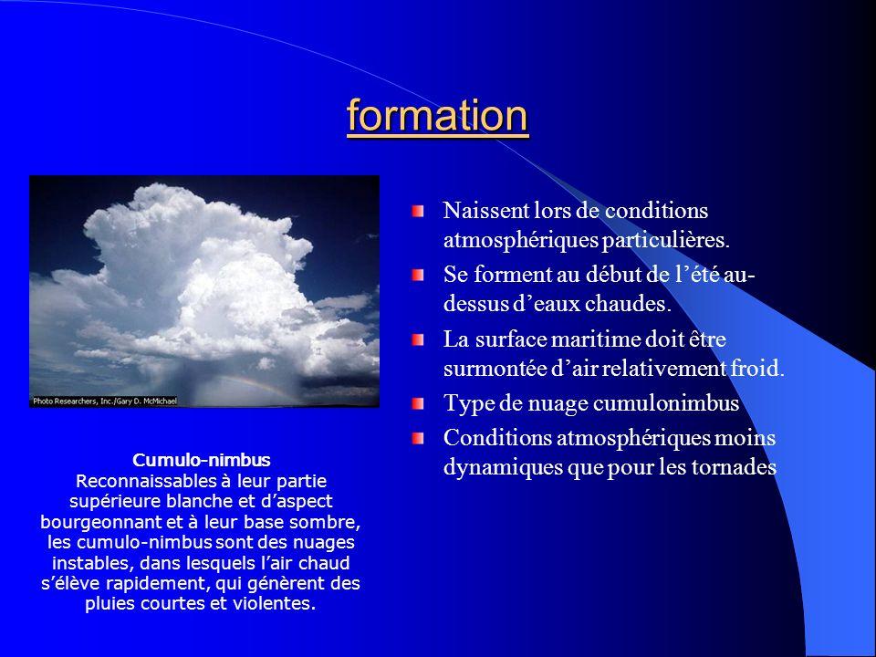 formation Naissent lors de conditions atmosphériques particulières.