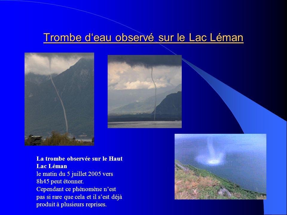 Trombe d'eau observé sur le Lac Léman