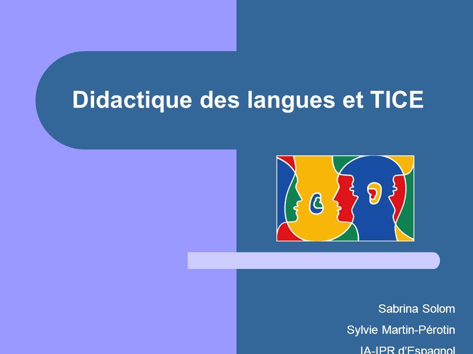 Didactique des langues et TICE