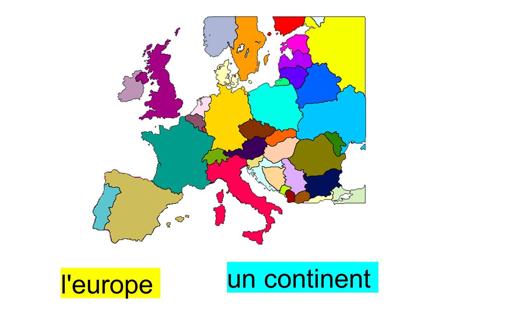 un continent l europe