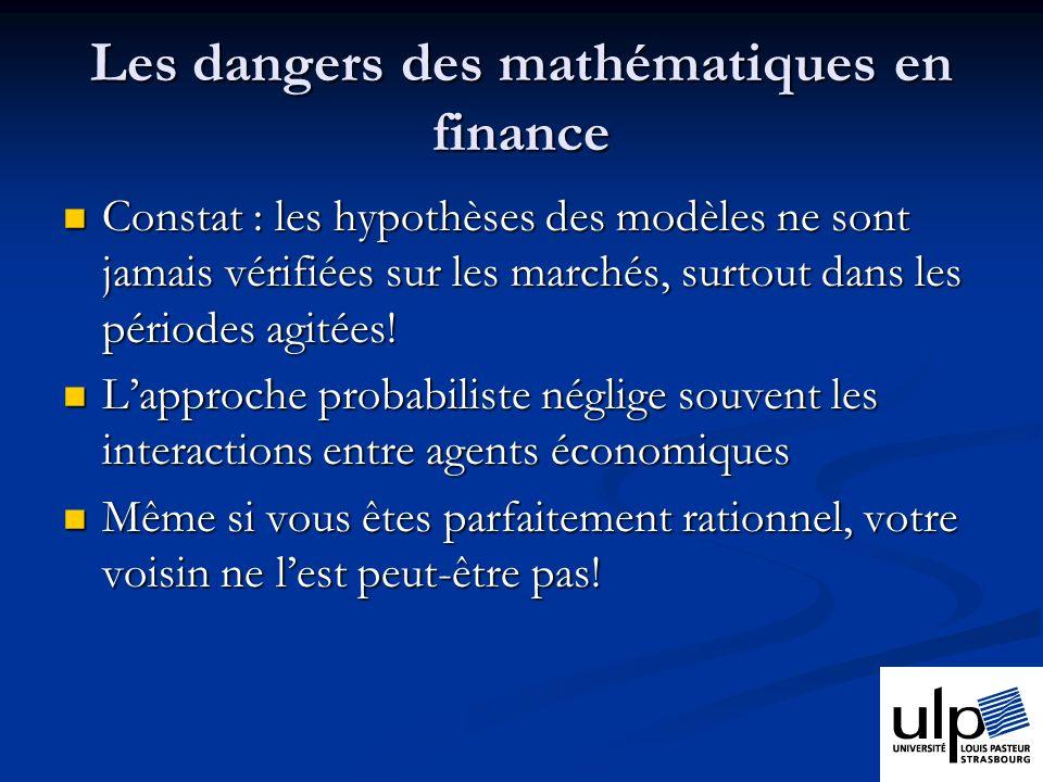 Les dangers des mathématiques en finance