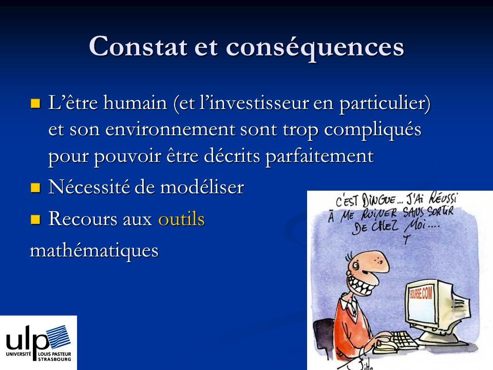Constat et conséquences