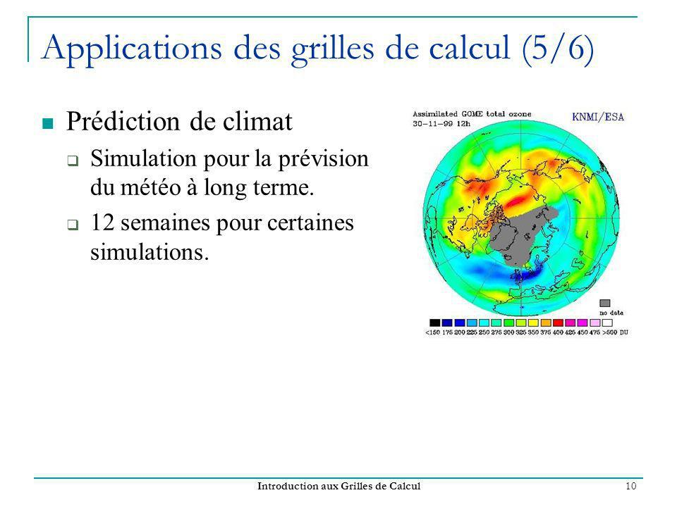Applications des grilles de calcul (5/6)