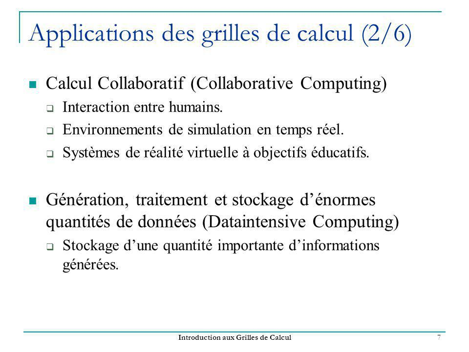 Applications des grilles de calcul (2/6)