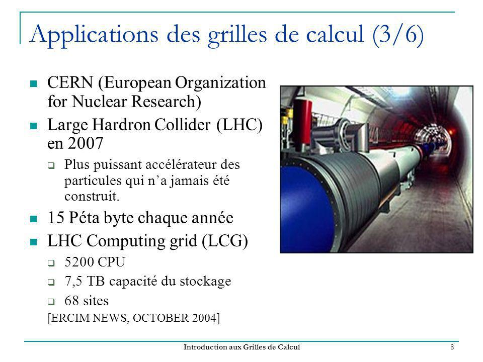Applications des grilles de calcul (3/6)
