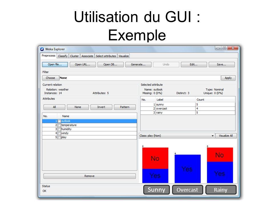 Utilisation du GUI : Exemple