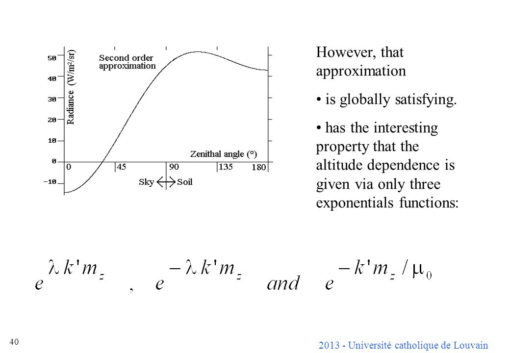 However, that approximation