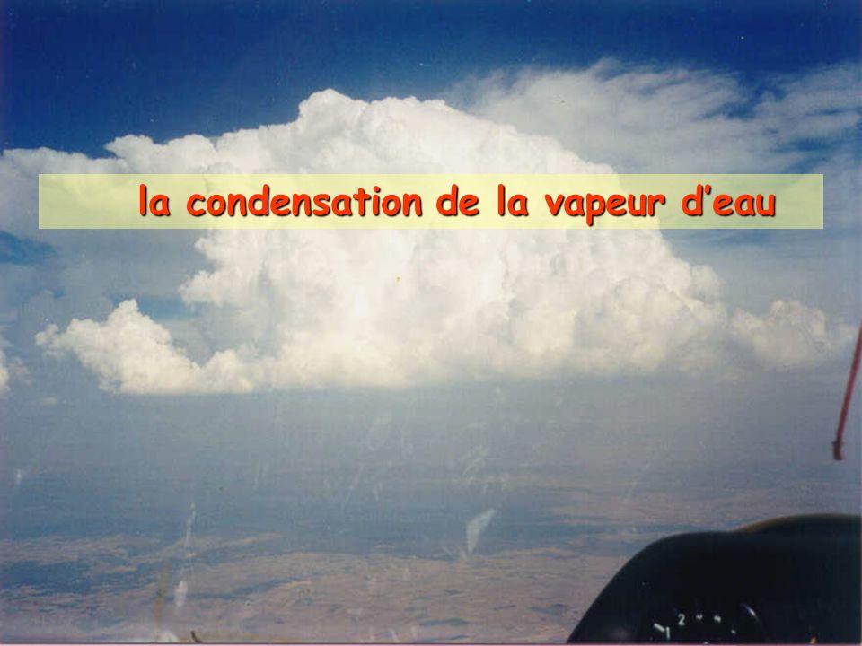 la condensation de la vapeur d'eau
