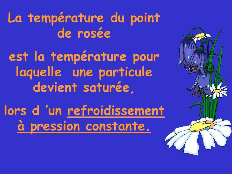 La température du point de rosée