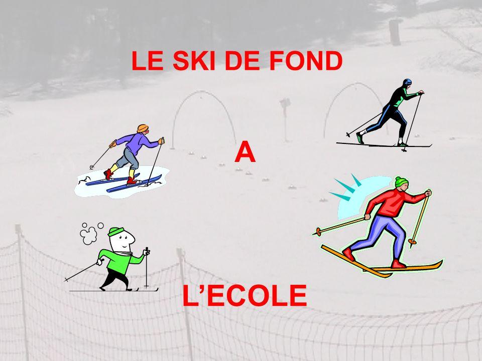 LE SKI DE FOND A L'ECOLE