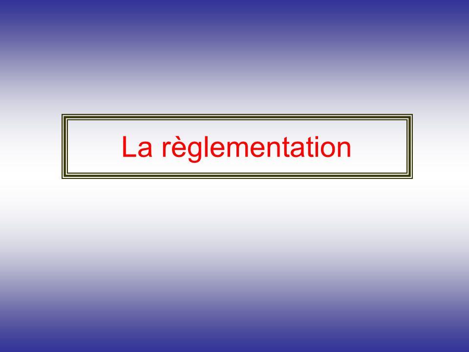 La règlementation