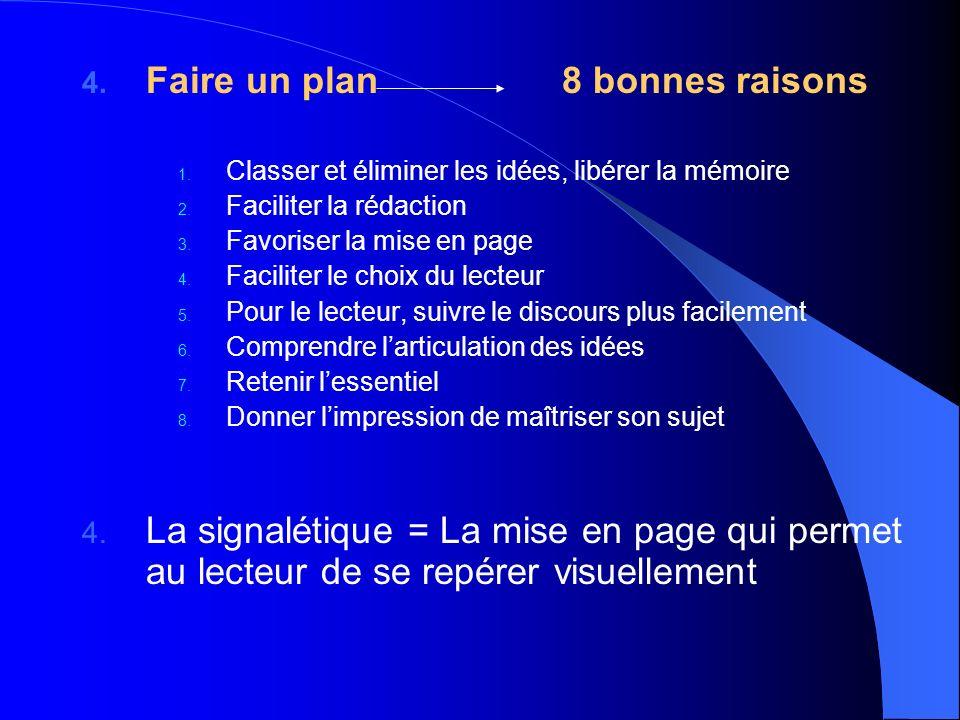 Faire un plan 8 bonnes raisons