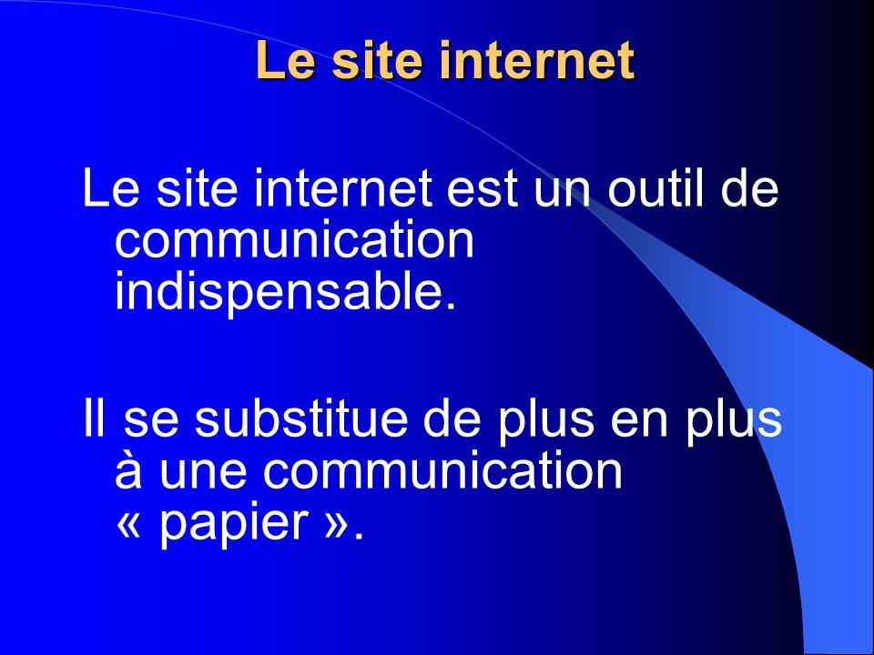 Le site internet Le site internet est un outil de communication indispensable.
