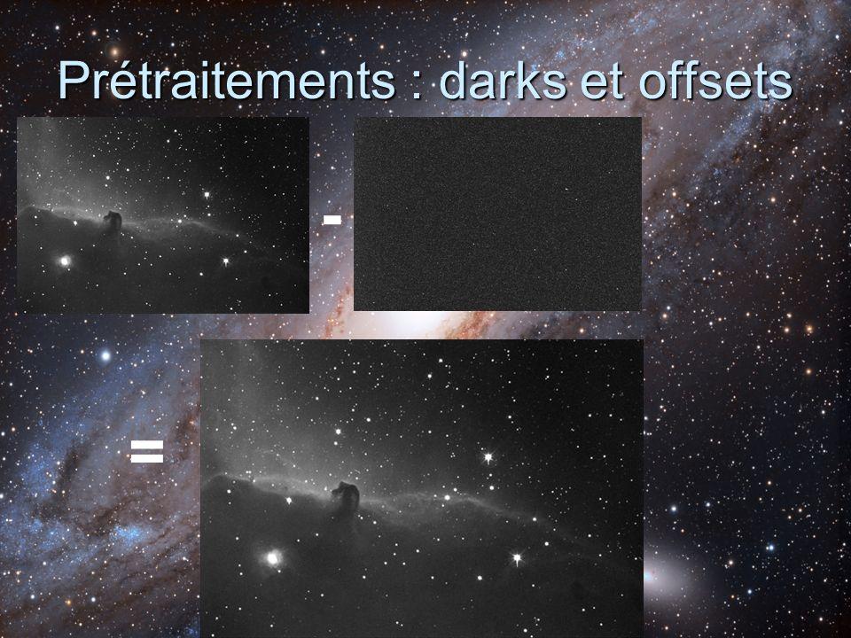 Prétraitements : darks et offsets
