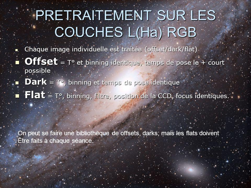PRETRAITEMENT SUR LES COUCHES L(Ha) RGB