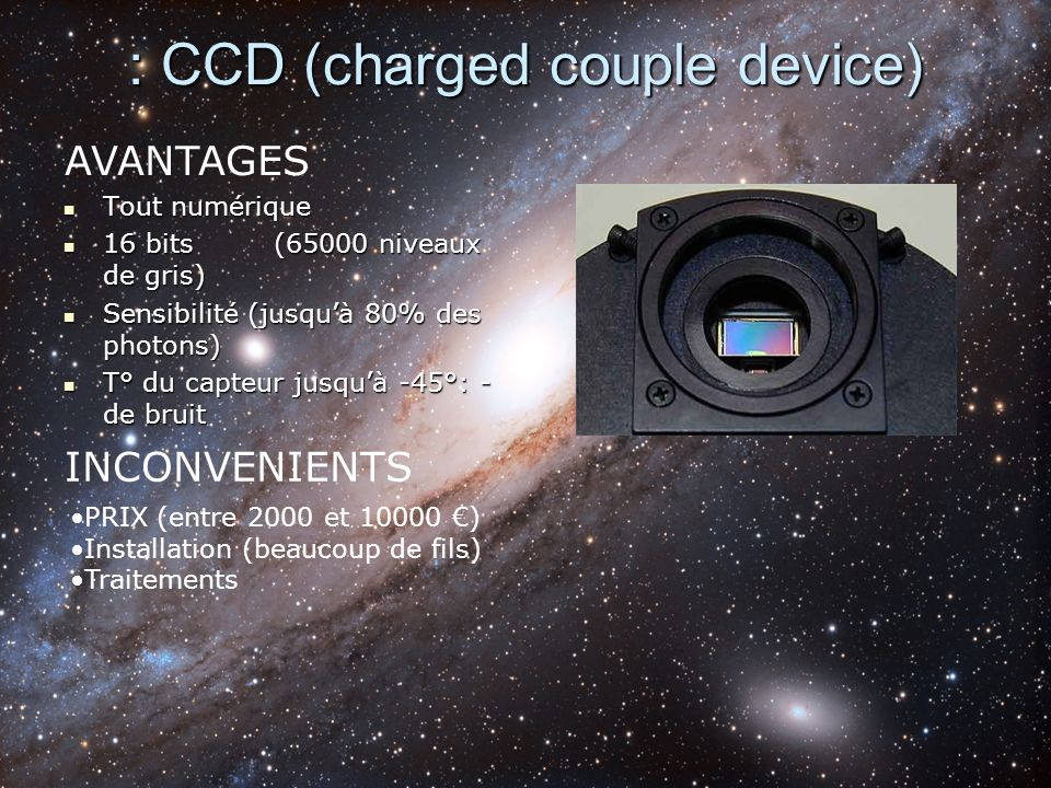 : CCD (charged couple device)