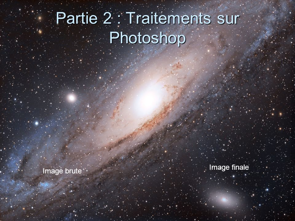 Partie 2 : Traitements sur Photoshop