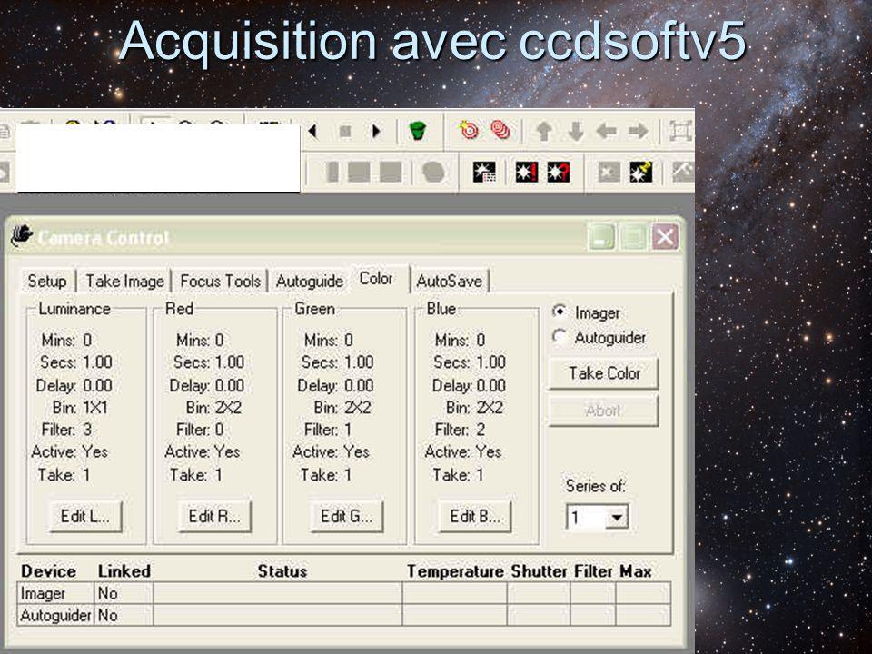 Acquisition avec ccdsoftv5