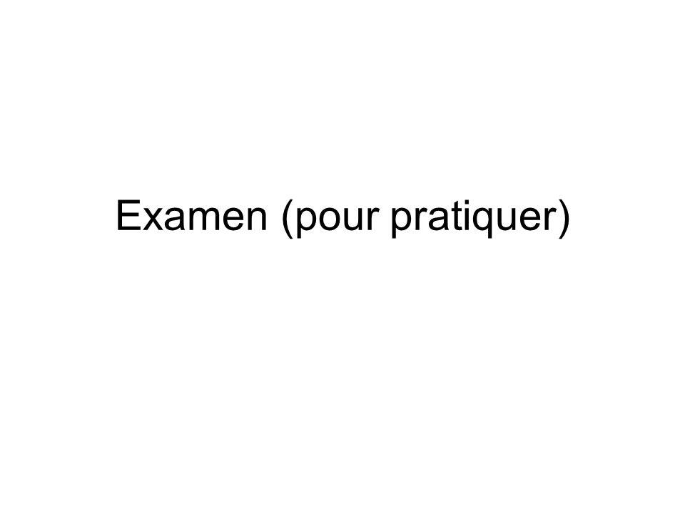 Examen (pour pratiquer)